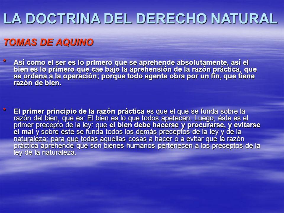 LA DOCTRINA DEL DERECHO NATURAL