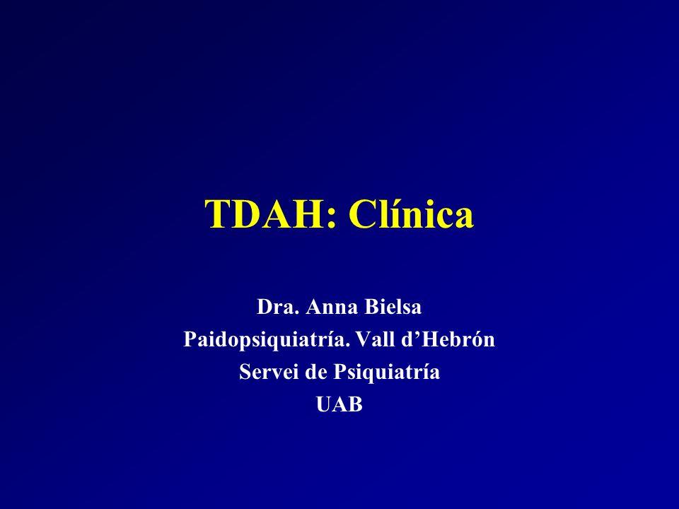 Paidopsiquiatría. Vall d'Hebrón