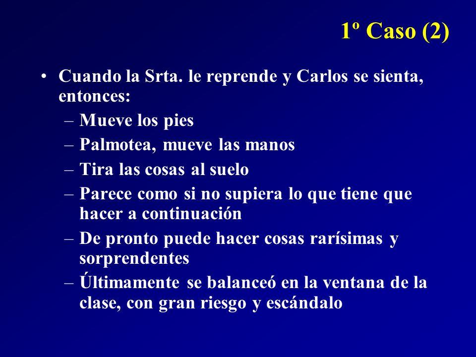 1º Caso (2) Cuando la Srta. le reprende y Carlos se sienta, entonces: