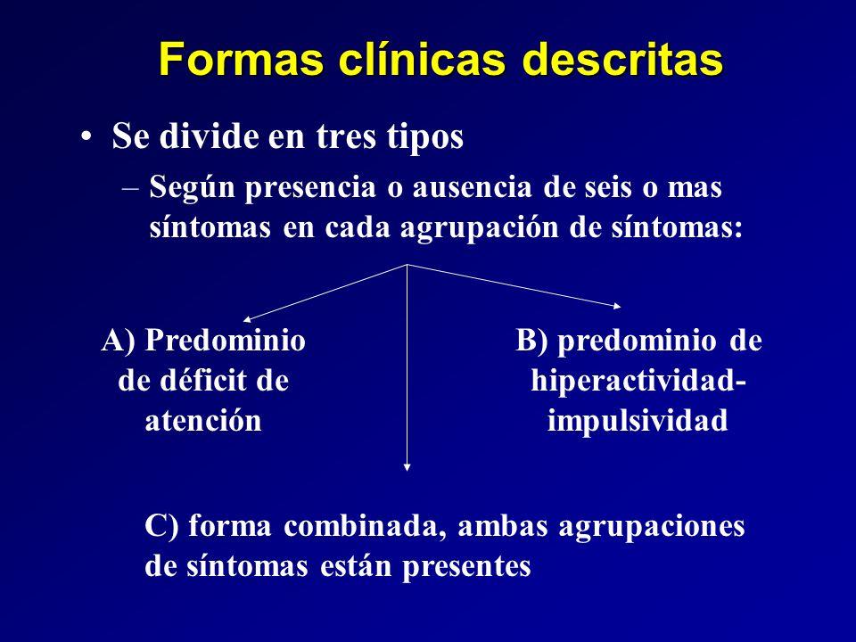 Formas clínicas descritas