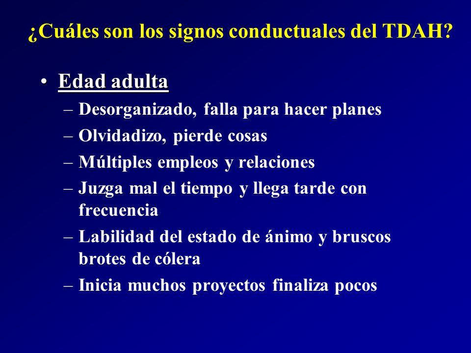 ¿Cuáles son los signos conductuales del TDAH