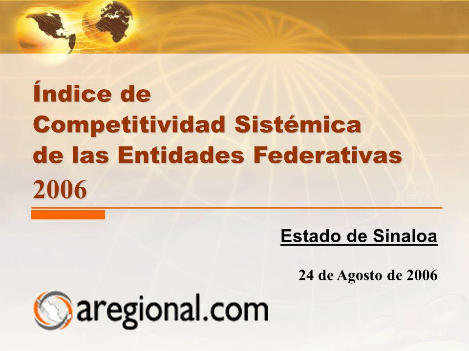 Competitividad Sistémica de las Entidades Federativas 2006