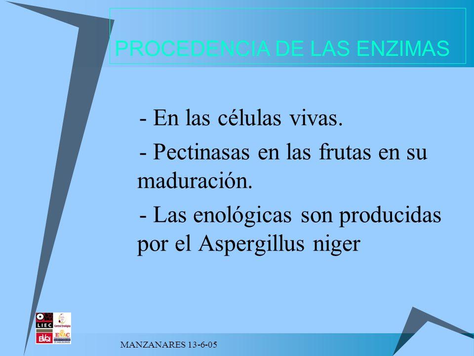 PROCEDENCIA DE LAS ENZIMAS