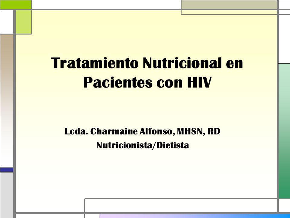 Tratamiento Nutricional en Pacientes con HIV