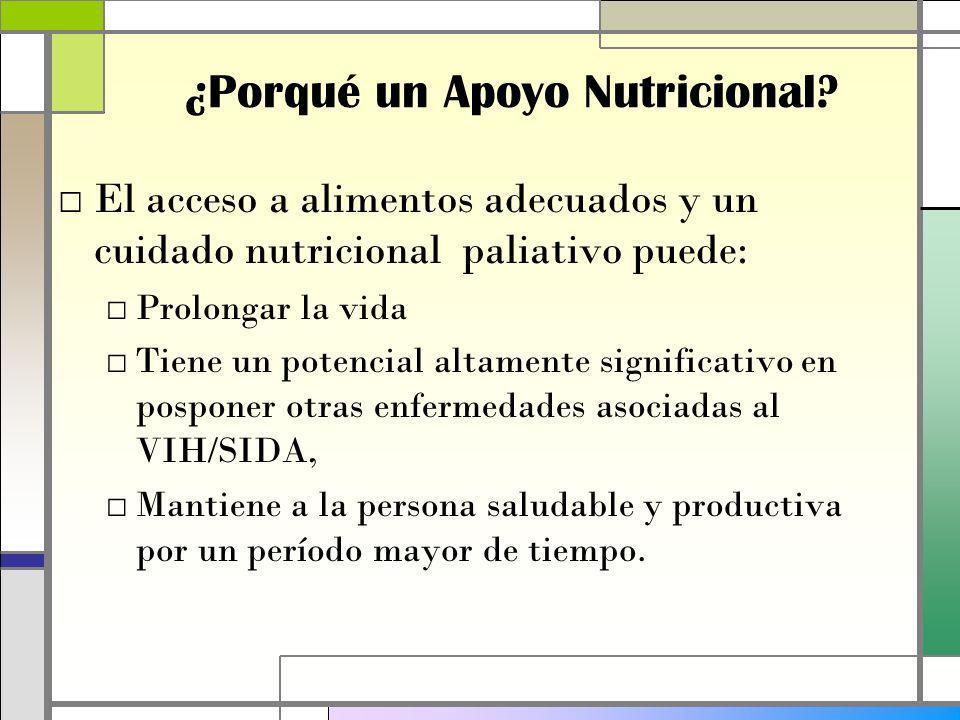 ¿Porqué un Apoyo Nutricional