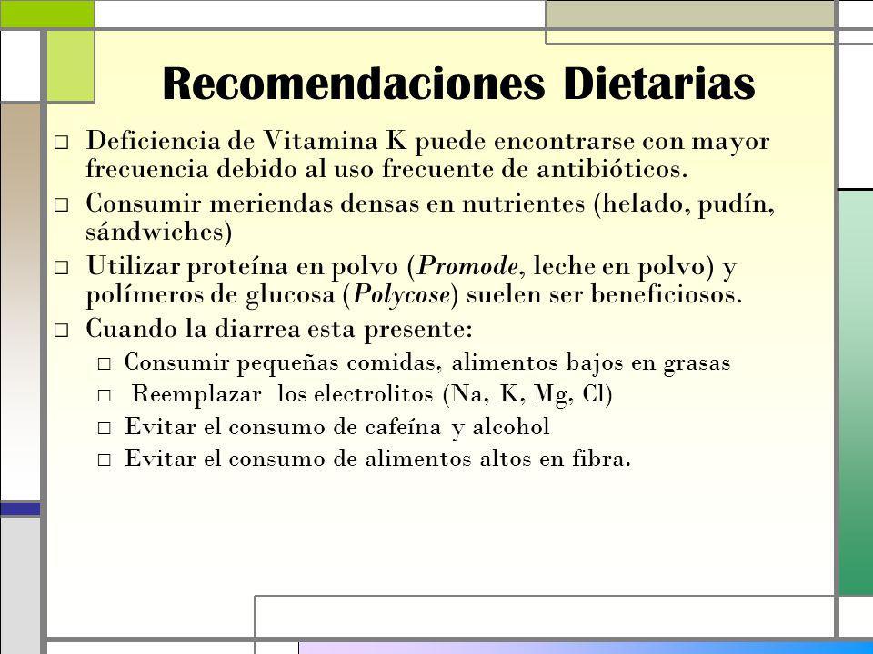 Recomendaciones Dietarias