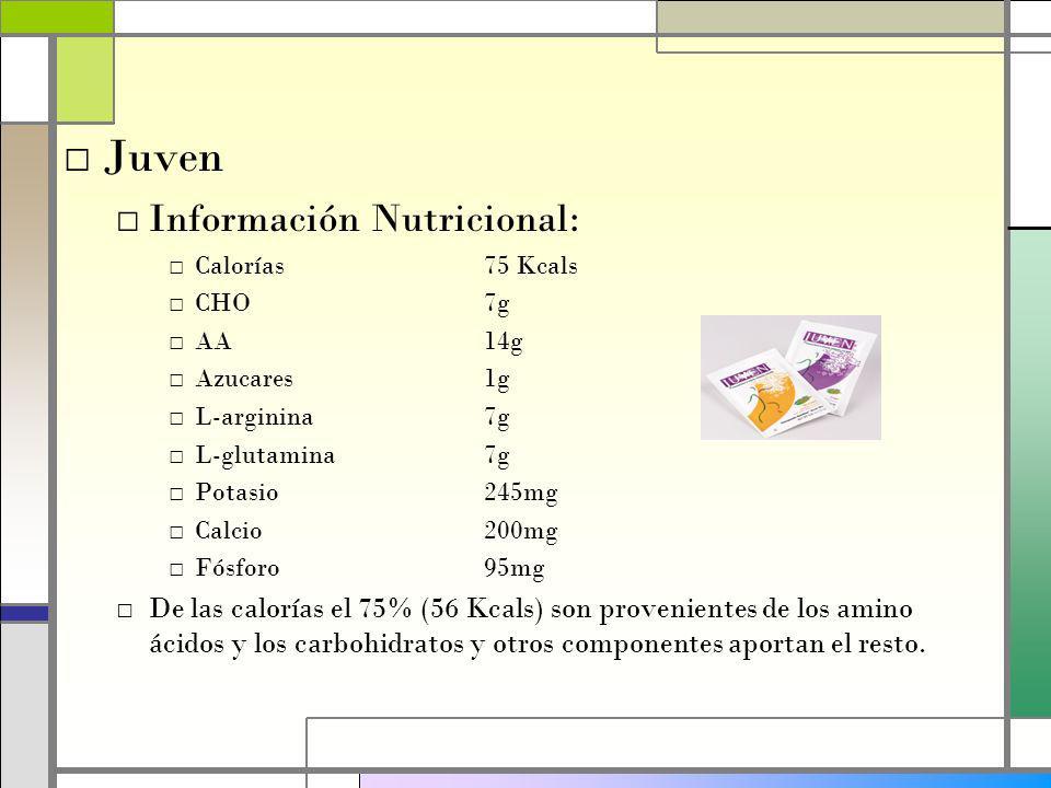 Juven Información Nutricional: