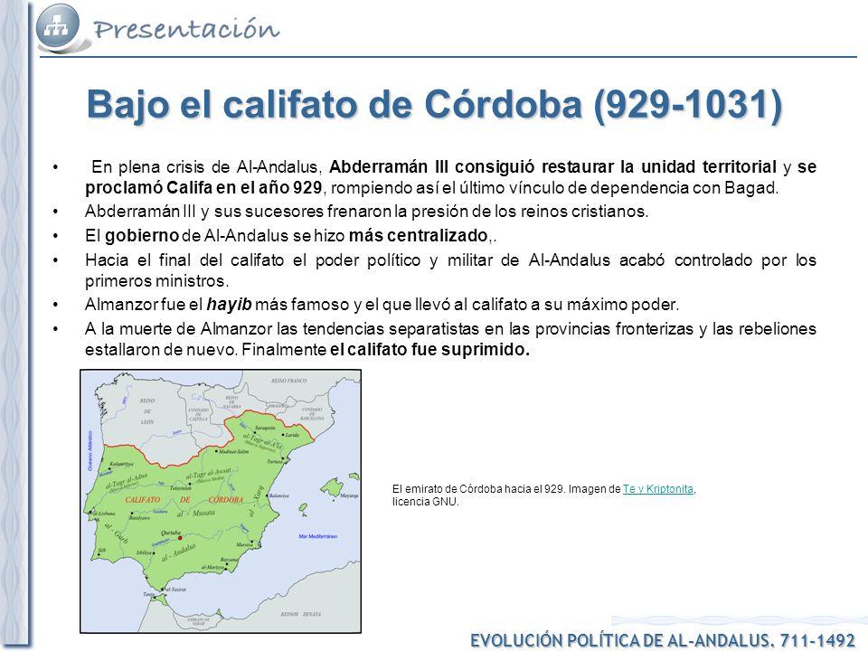 Bajo el califato de Córdoba (929-1031)