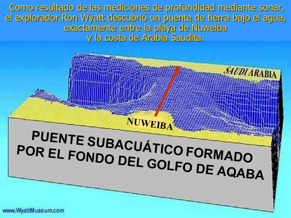 PUENTE SUBACUÁTICO FORMADO POR EL FONDO DEL GOLFO DE AQABA