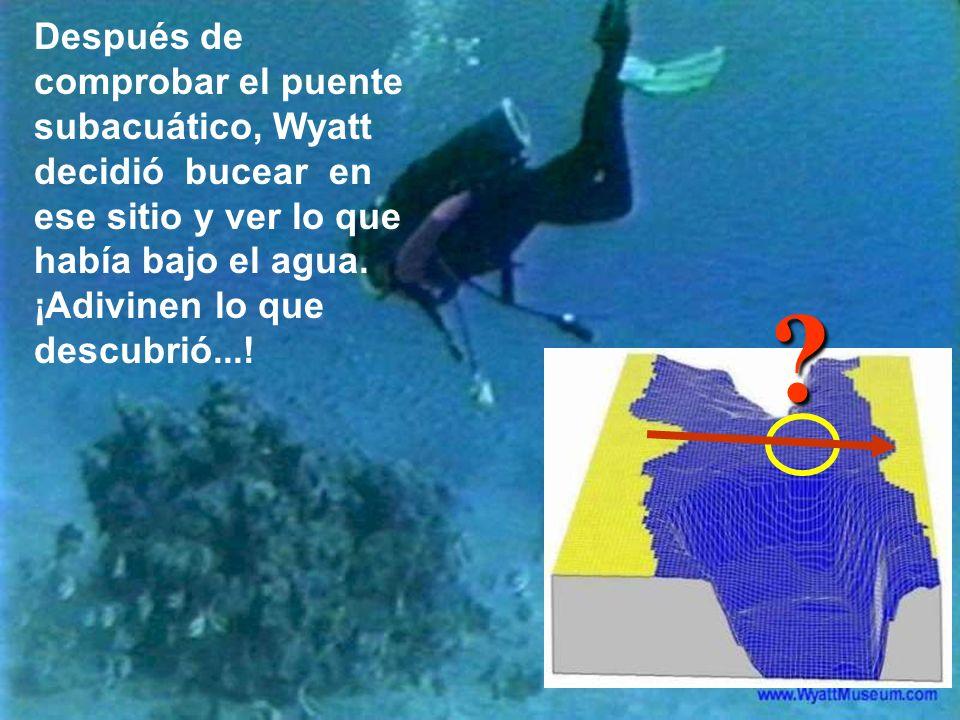 Después de comprobar el puente subacuático, Wyatt decidió bucear en ese sitio y ver lo que había bajo el agua. ¡Adivinen lo que descubrió...!