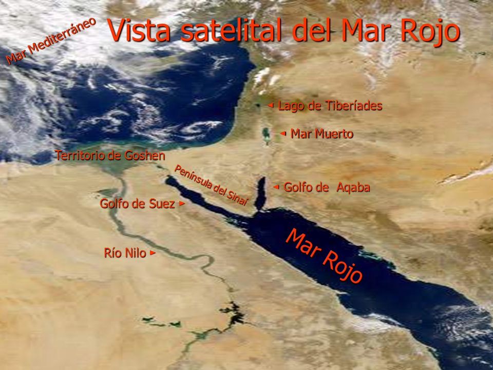 Vista satelital del Mar Rojo