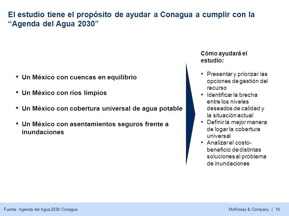 El estudio tiene el propósito de ayudar a Conagua a cumplir con la Agenda del Agua 2030
