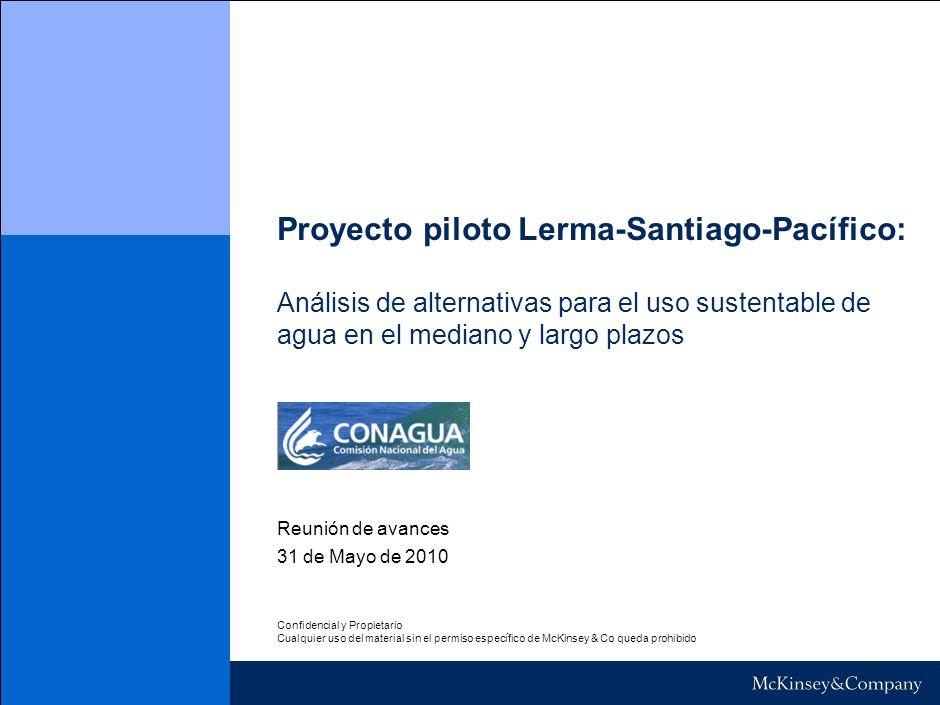 Proyecto piloto Lerma-Santiago-Pacífico: Análisis de alternativas para el uso sustentable de agua en el mediano y largo plazos