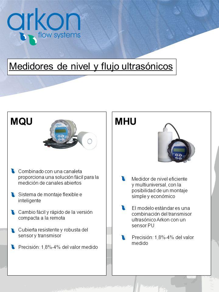 Medidores de nivel y flujo ultrasónicos