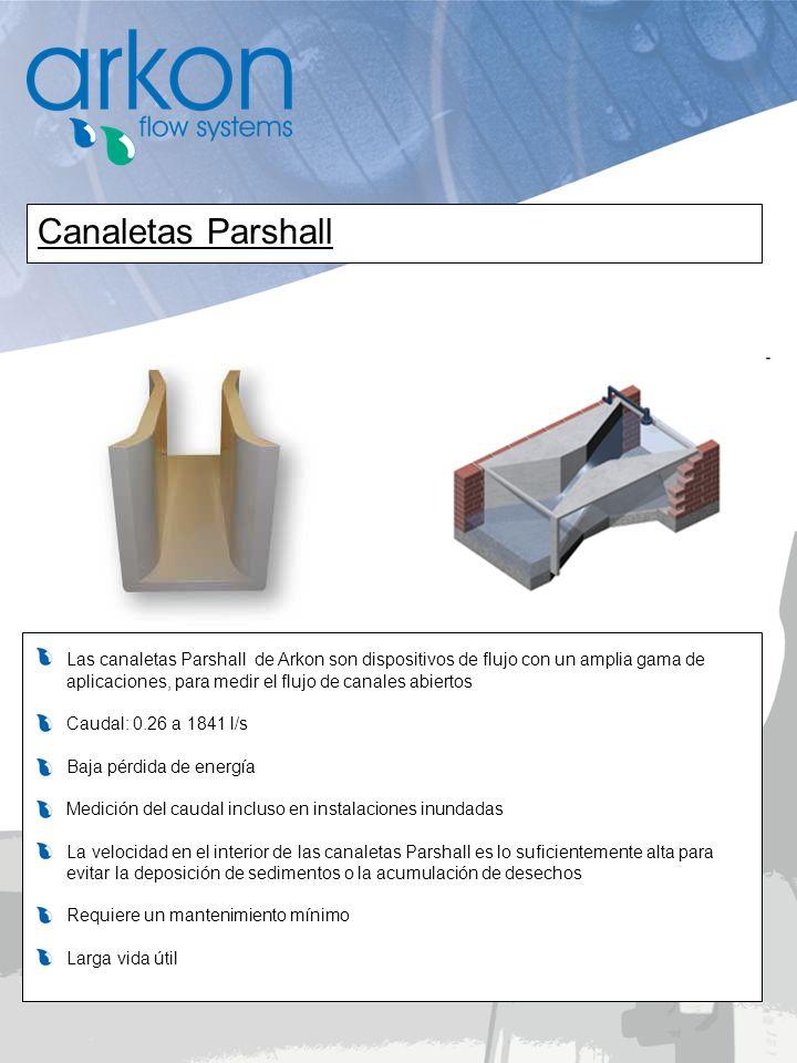 Canaletas Parshall Las canaletas Parshall de Arkon son dispositivos de flujo con un amplia gama de.