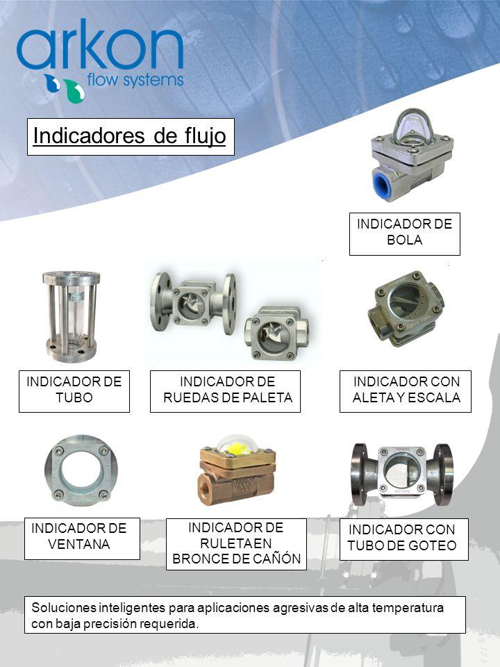 Indicadores de flujo INDICADOR DE BOLA INDICADOR DE TUBO
