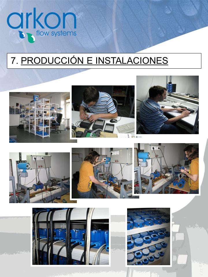 7. PRODUCCIÓN E INSTALACIONES