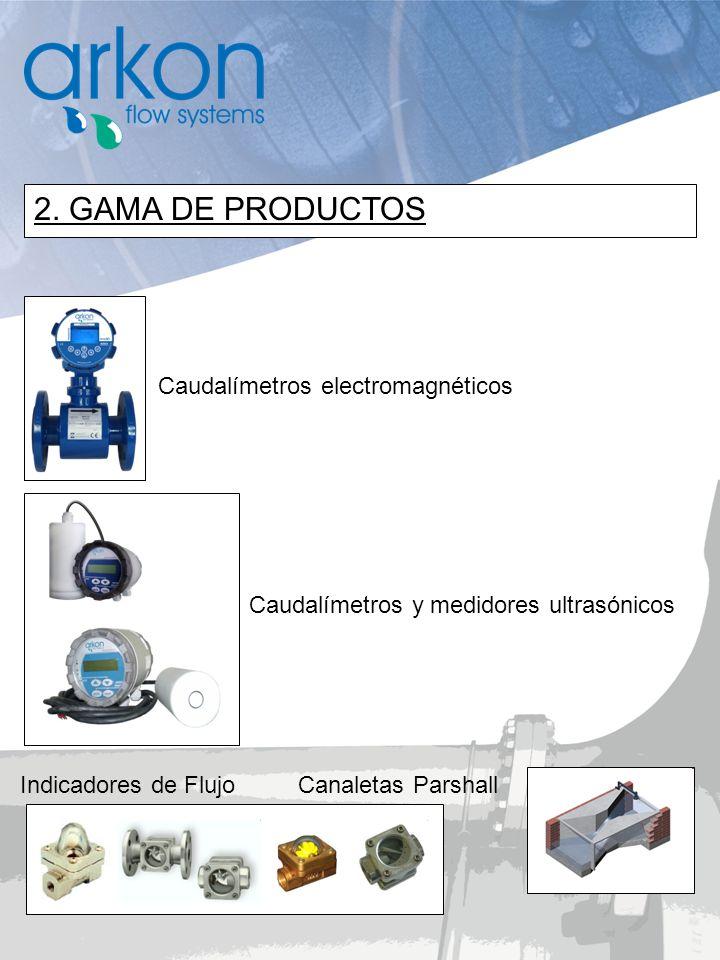 2. GAMA DE PRODUCTOS Caudalímetros electromagnéticos