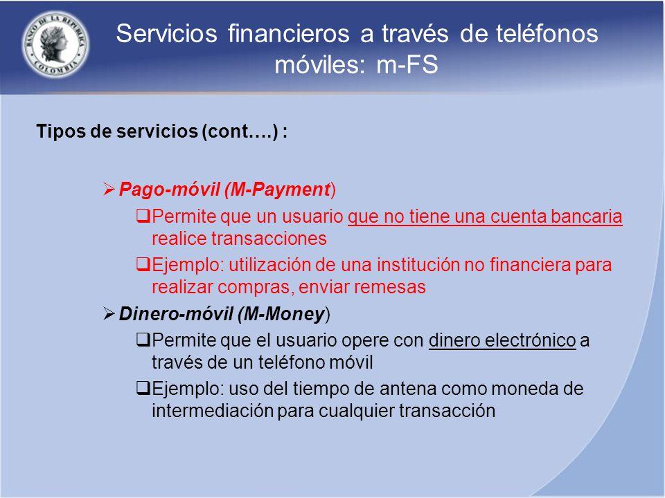 Servicios financieros a través de teléfonos móviles: m-FS