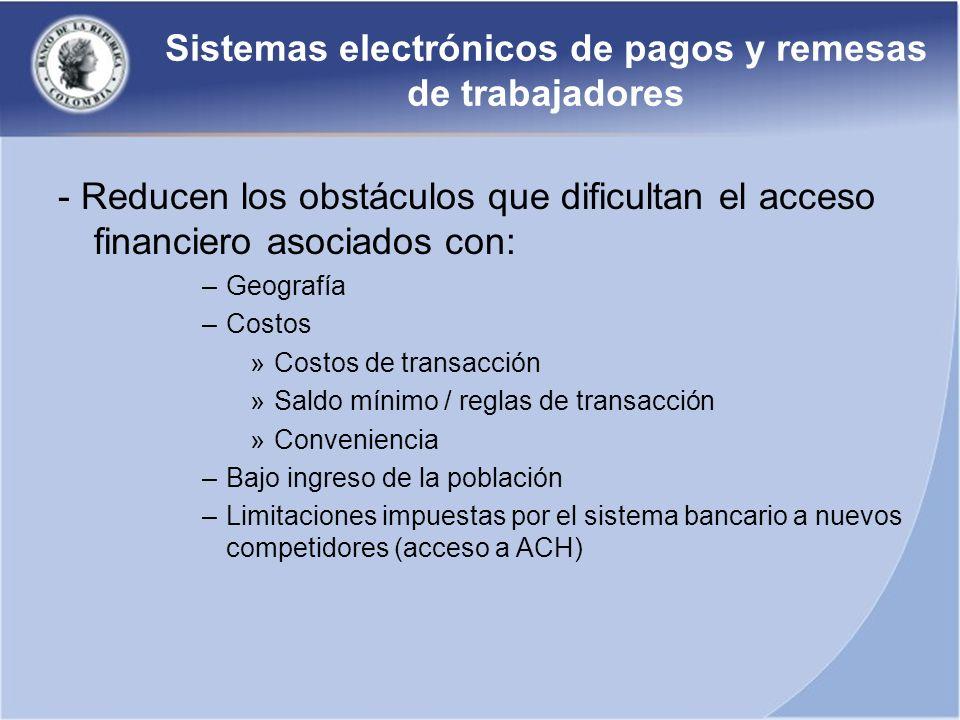Sistemas electrónicos de pagos y remesas de trabajadores