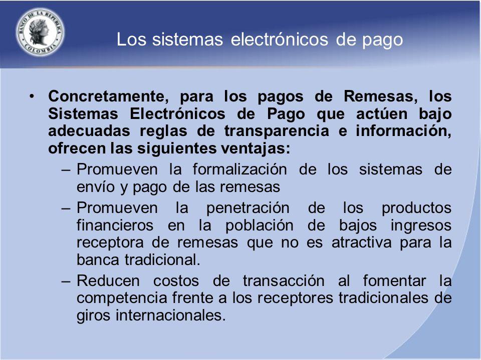 Los sistemas electrónicos de pago