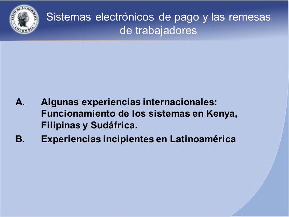 Sistemas electrónicos de pago y las remesas de trabajadores