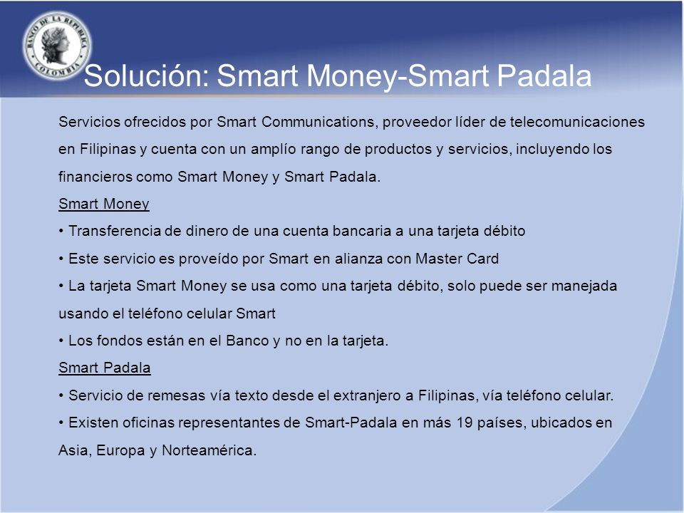 Solución: Smart Money-Smart Padala