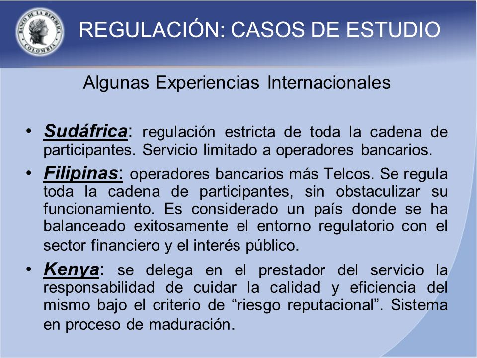 REGULACIÓN: CASOS DE ESTUDIO