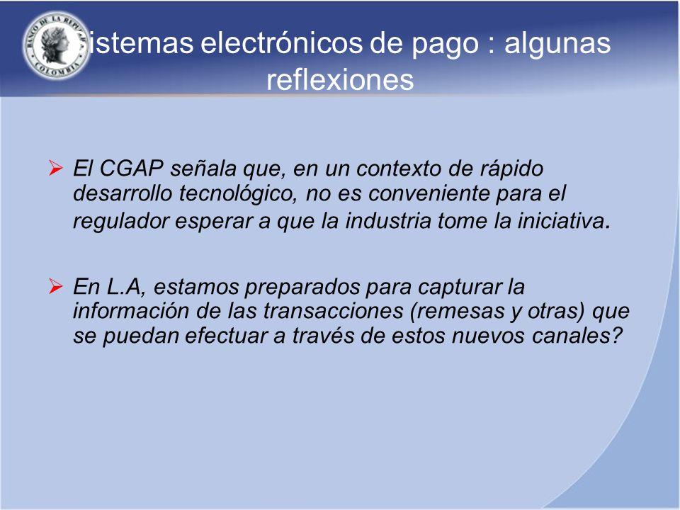 Sistemas electrónicos de pago : algunas reflexiones