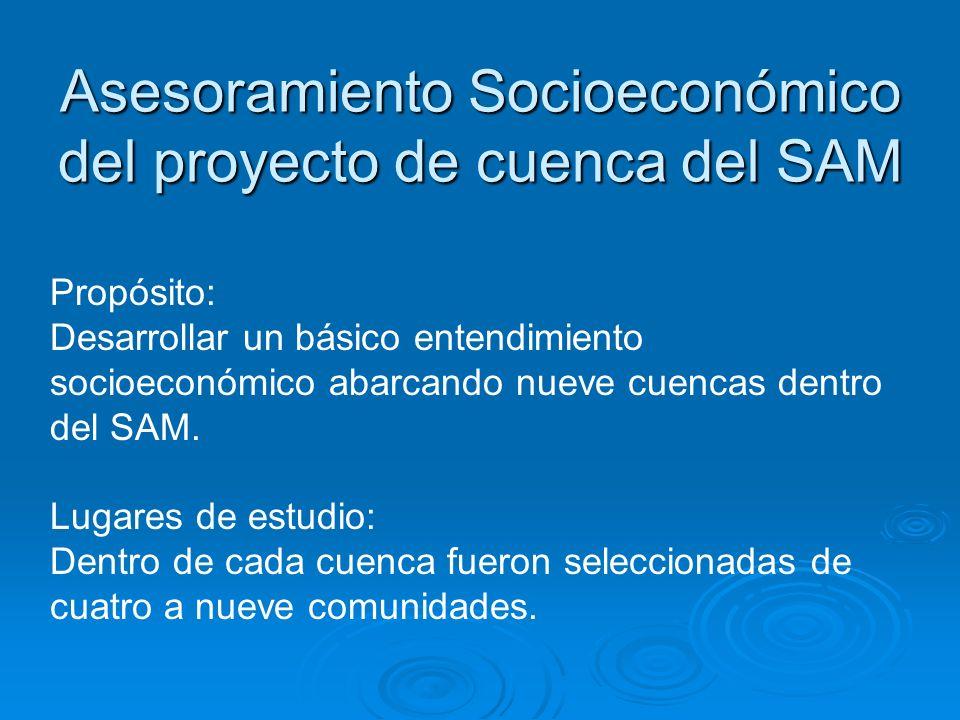 Asesoramiento Socioeconómico del proyecto de cuenca del SAM