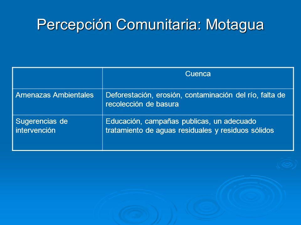 Percepción Comunitaria: Motagua