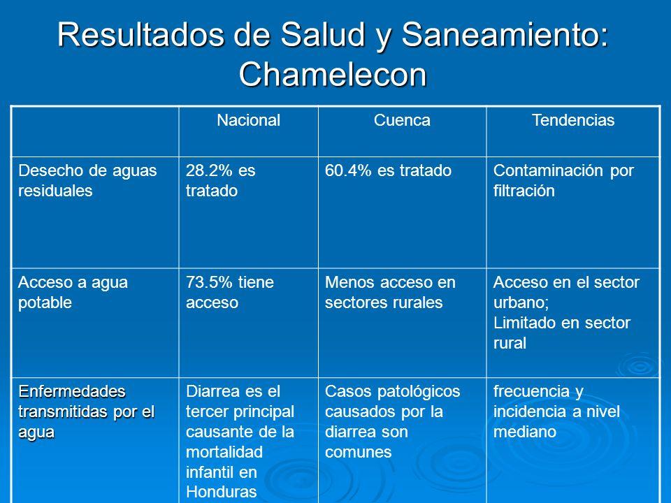Resultados de Salud y Saneamiento: Chamelecon