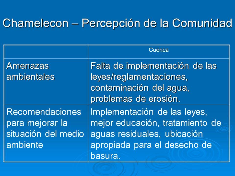 Chamelecon – Percepción de la Comunidad