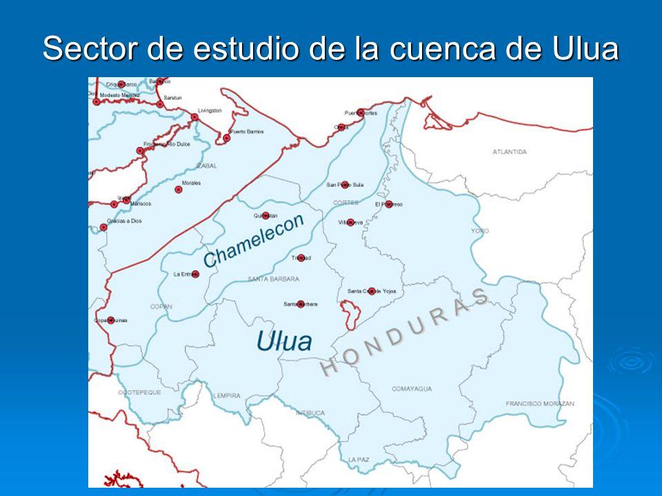 Sector de estudio de la cuenca de Ulua
