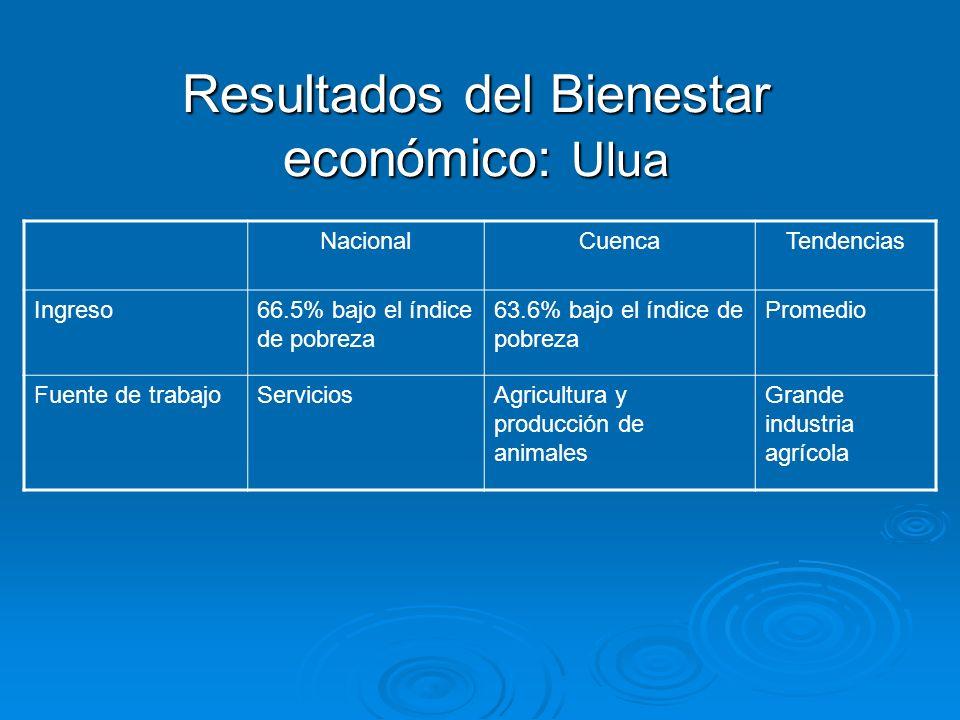 Resultados del Bienestar económico: Ulua