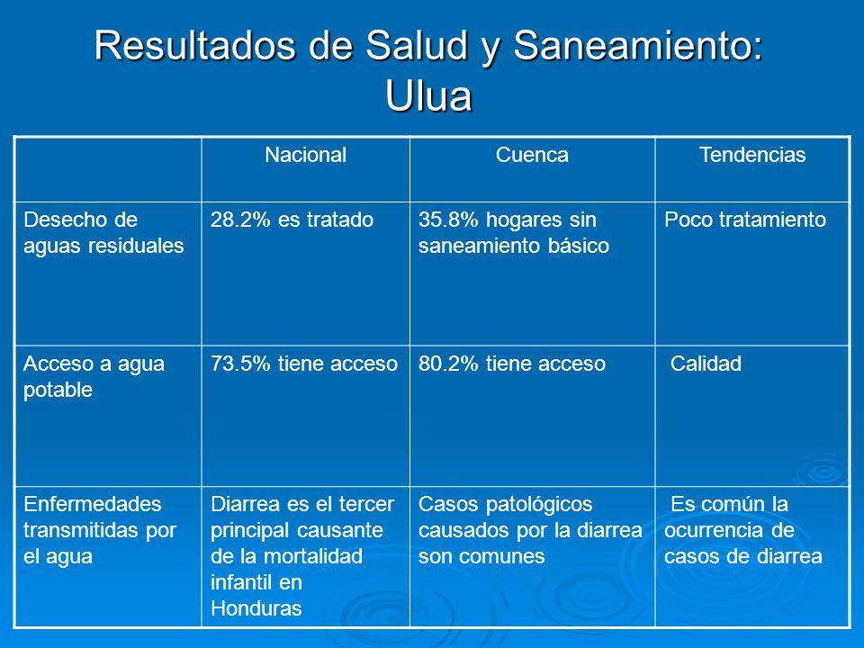 Resultados de Salud y Saneamiento: Ulua