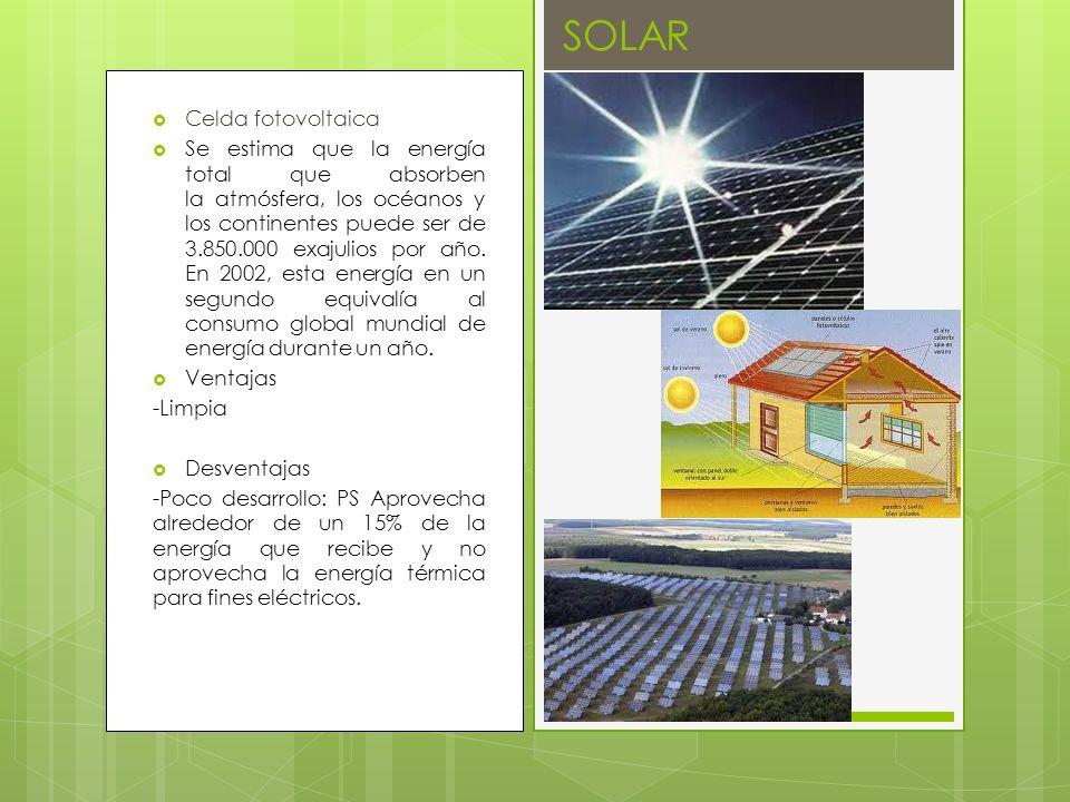 SOLAR Celda fotovoltaica