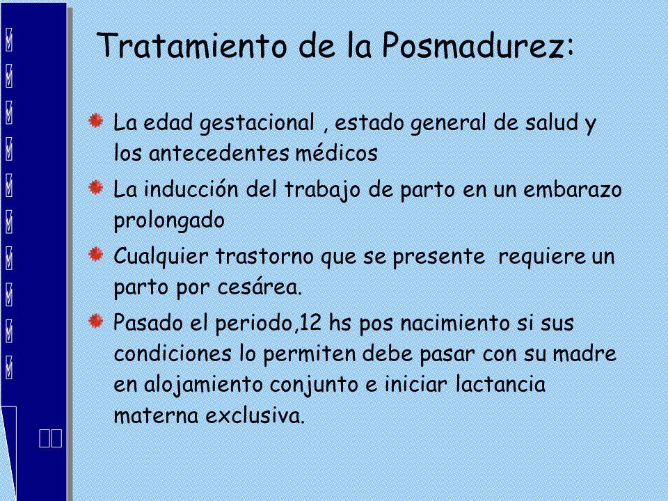 Tratamiento de la Posmadurez: