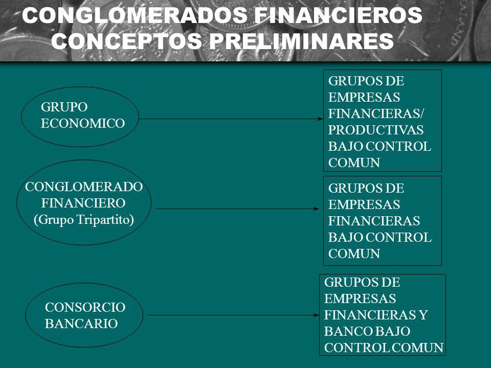 CONGLOMERADOS FINANCIEROS CONCEPTOS PRELIMINARES