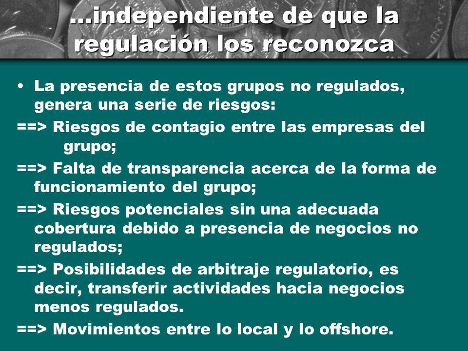 ...independiente de que la regulación los reconozca