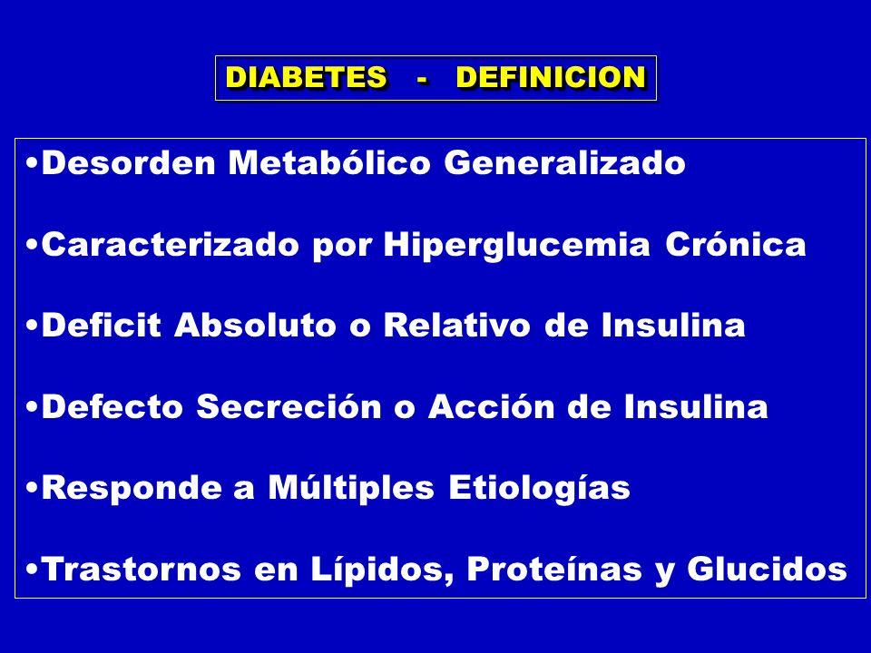 Desorden Metabólico Generalizado