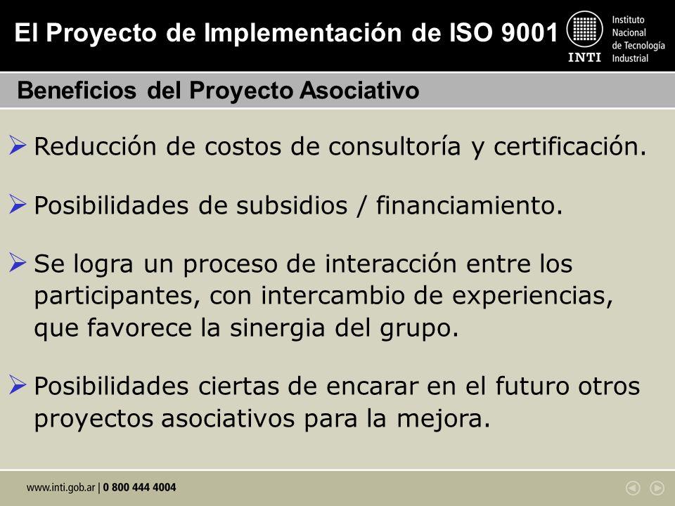 El Proyecto de Implementación de ISO 9001
