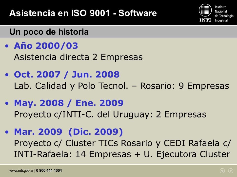 Asistencia en ISO 9001 - Software