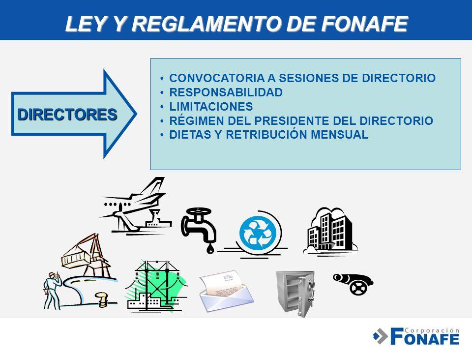 LEY Y REGLAMENTO DE FONAFE