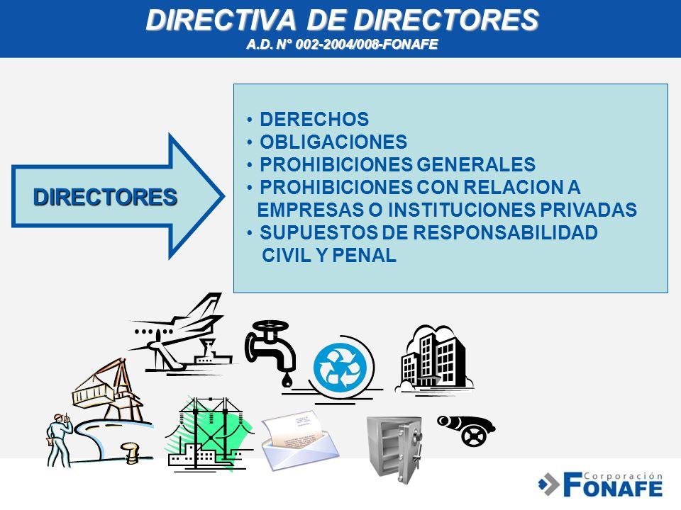 DIRECTIVA DE DIRECTORES A.D. N° 002-2004/008-FONAFE