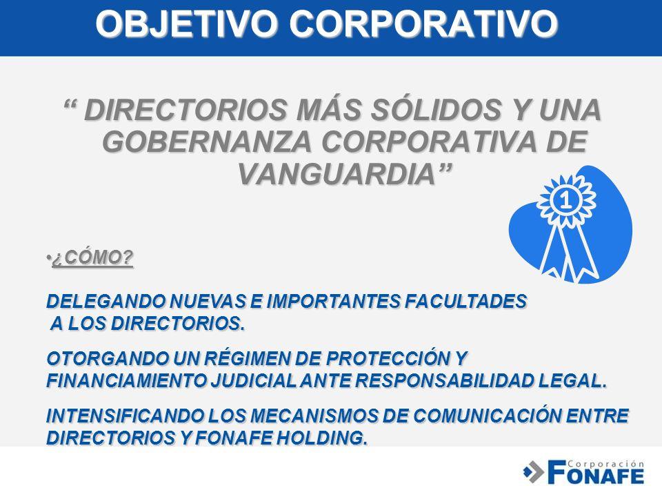 DIRECTORIOS MÁS SÓLIDOS Y UNA GOBERNANZA CORPORATIVA DE VANGUARDIA