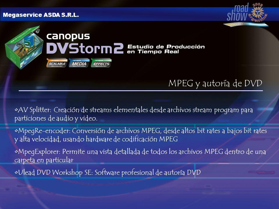Megaservice ASDA S.R.L. MPEG y autoría de DVD.