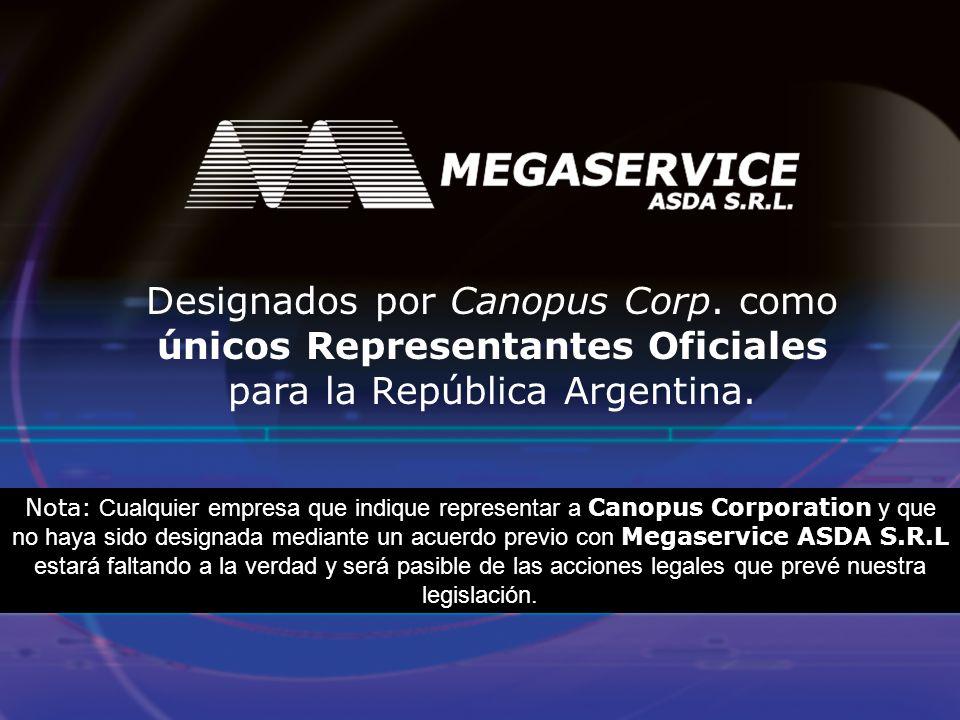 Designados por Canopus Corp