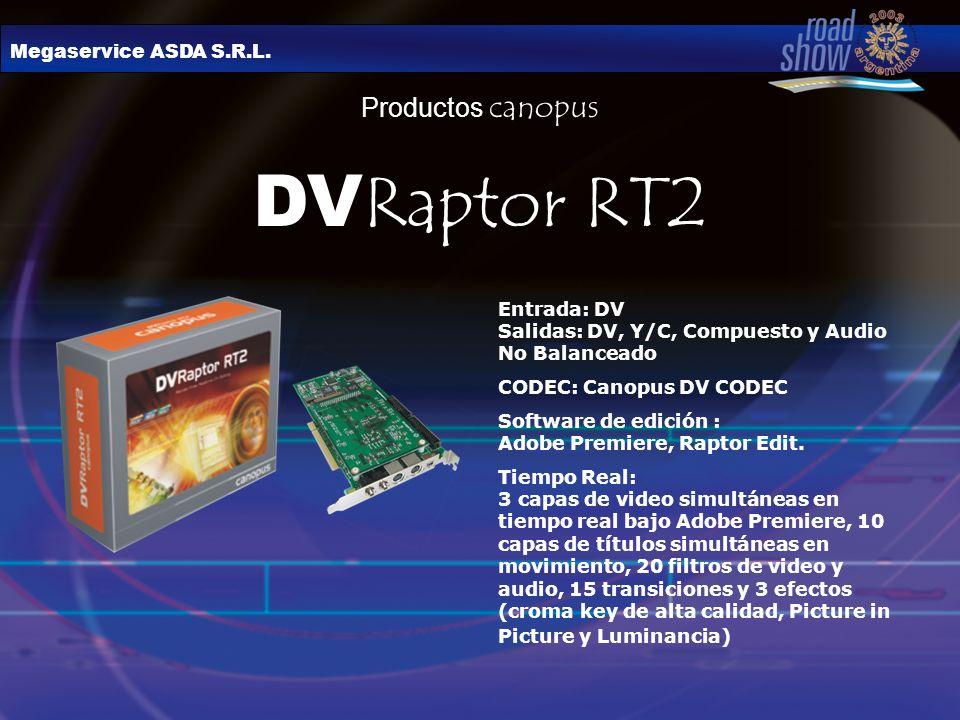 DVRaptor RT2 Productos canopus Megaservice ASDA S.R.L.