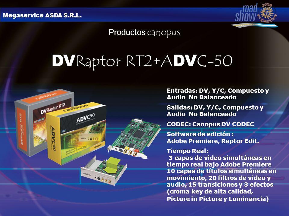 DVRaptor RT2+ADVC-50 Productos canopus Megaservice ASDA S.R.L.